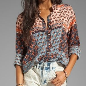 Free People Caravan Button Down Blouse